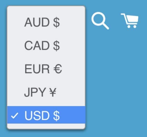 Fonctionnalité multiples devises dans Shopify
