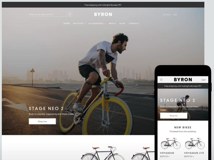 Grâce à ses modèles réactifs, la plateforme Shopify maintient un avantage SEO concurrentiel par rapport à Wix