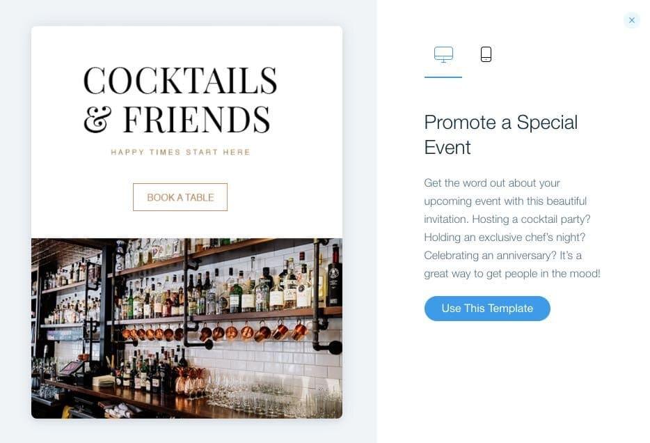 Créer des campagnes d'email marketing avec Wix