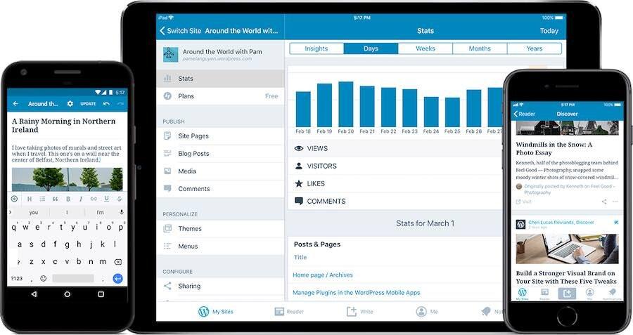 L'application mobile « WordPress »