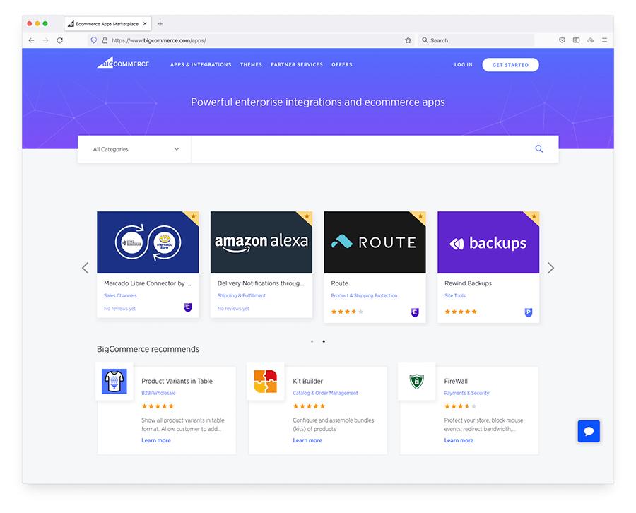 La boutique d'applications de BigCommerce