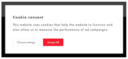 Shopify est encore loin de permettre l'affichage d'une bannière de cookies conforme au RGPD