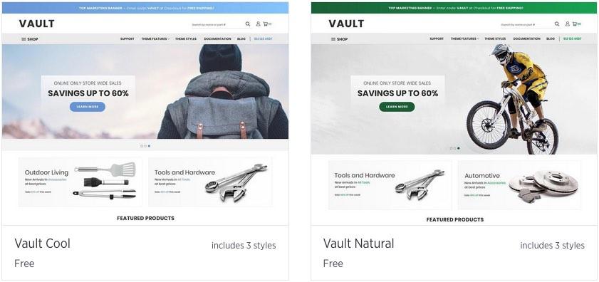 Certains thèmes BigCommerce sont très similaires.