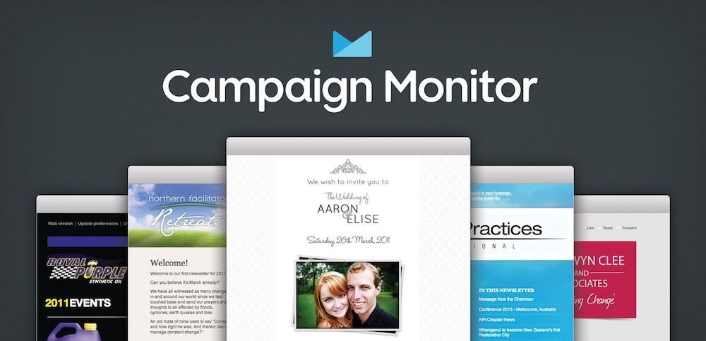 Campaign Monitor review (image of the product's logo and templates)