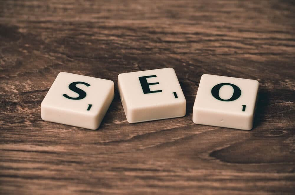 Free SEO resources (image of scrabble tiles spelling the word SEO)