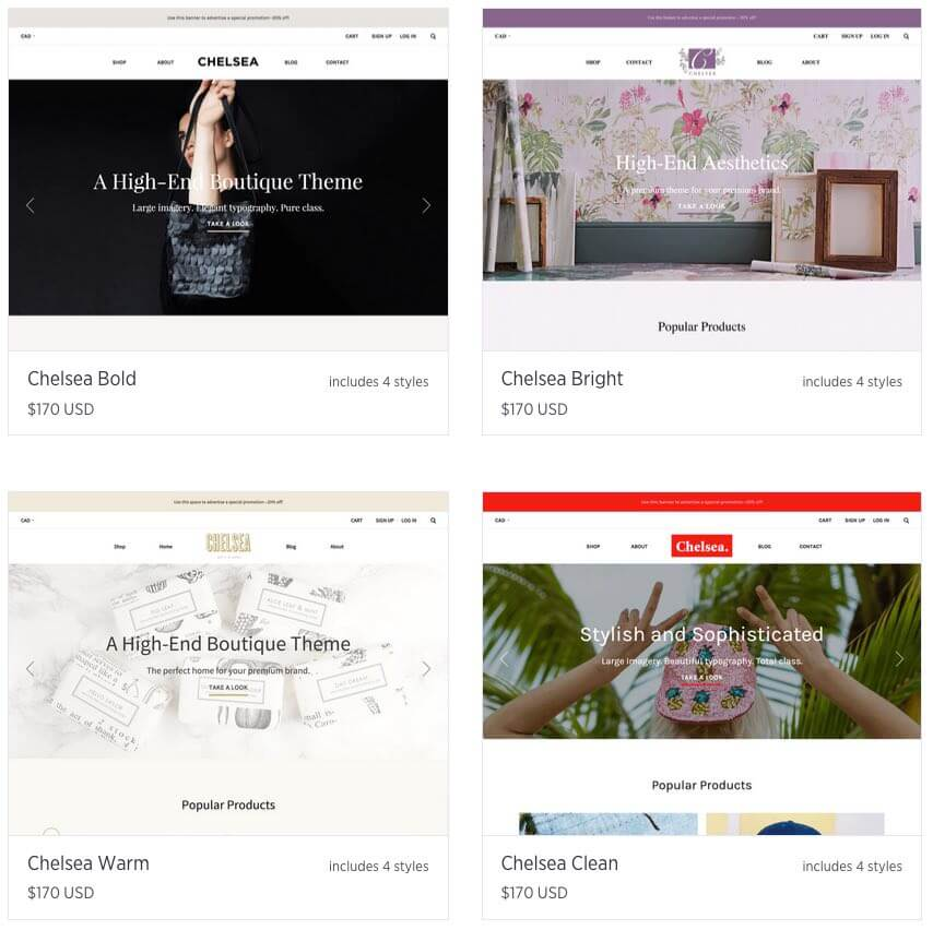 "Bigcommerce's 'Chelsea' range of templates - very professional in appearance, but are we really talking about four individual themes?""></figure><figure><img loading="