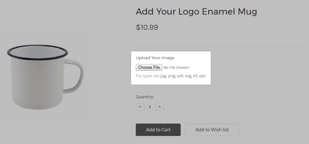 File uploads at checkout —when considering BigCommerce vs Shopify, note that it's more difficult to add this functionality in Shopify.