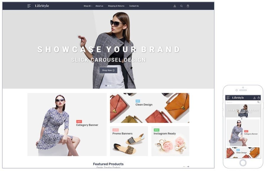 A Bigcommerce online store template