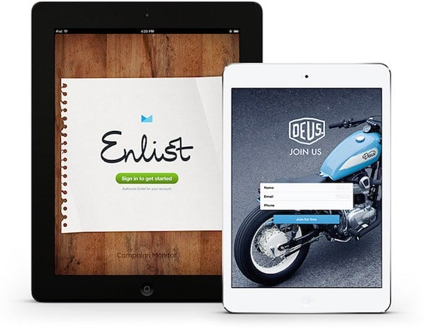 Campaign Monitor's 'Enlist' iPad app - a great way to capture data at events