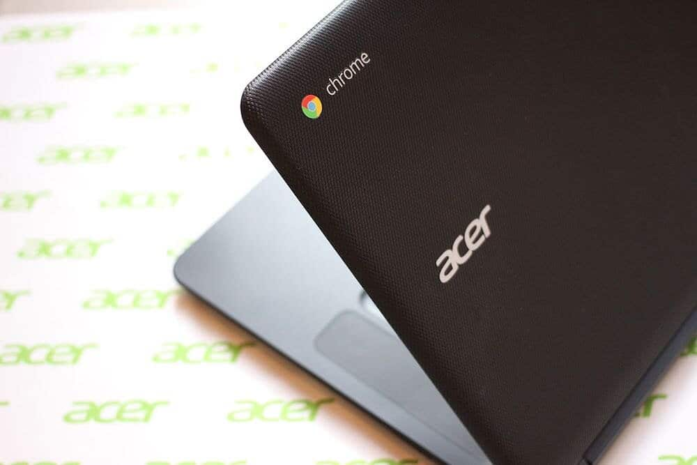 Chromebook review (image of an Acer Chromchebook).