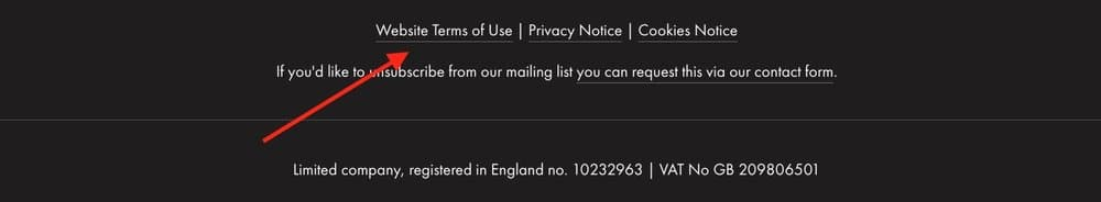 Links to GDPR documents should be visible on every page of your website