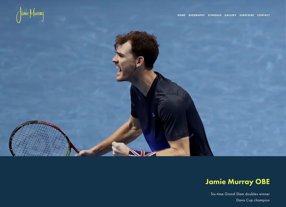 Jamie Murray website