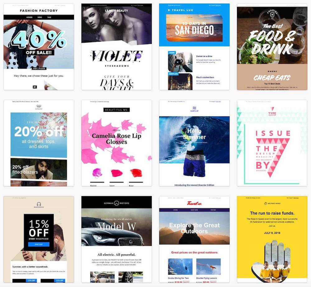 Some newsletter template examples