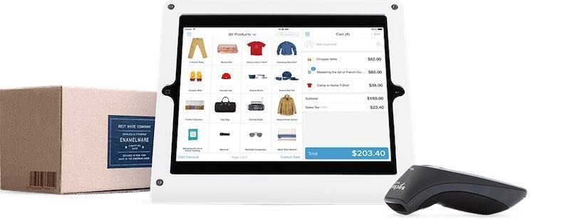 Shopify's Point of Sale kit, for selling your products in a 'real' shop.