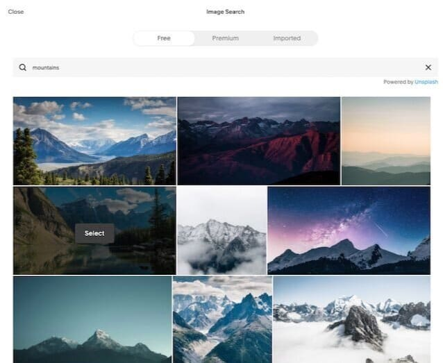 The Unsplash integration with Squarespace — this allows you to make use of an extensive collection of high-quality, royalty-free images.