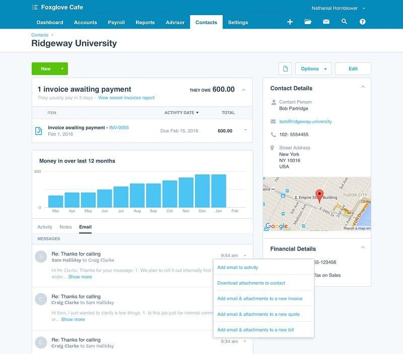 The Xero app is an increasingly popular option for managing accounts.