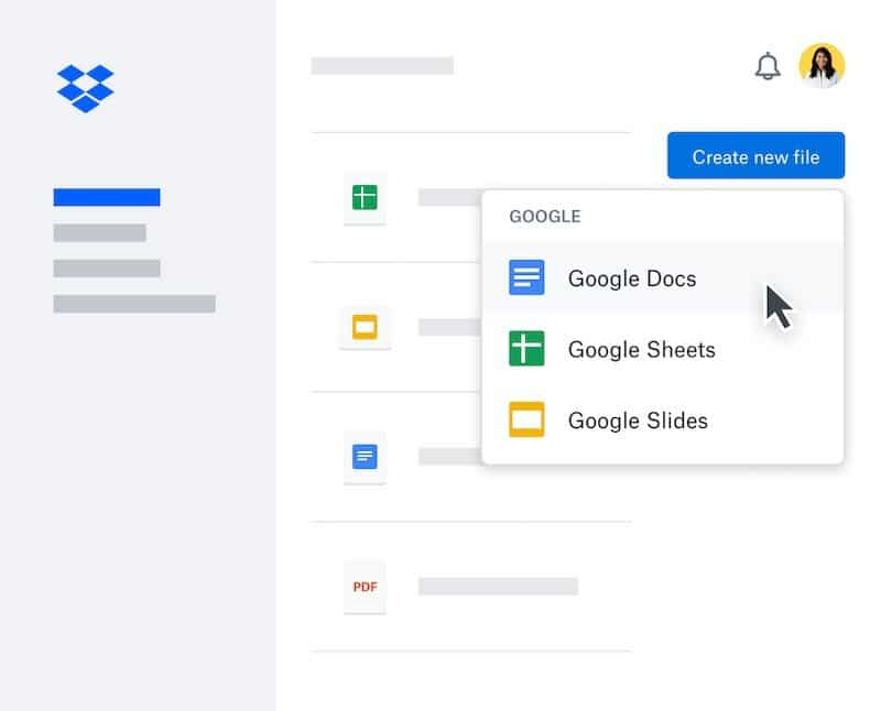 Dropbox now offers an integration with Google Workspace