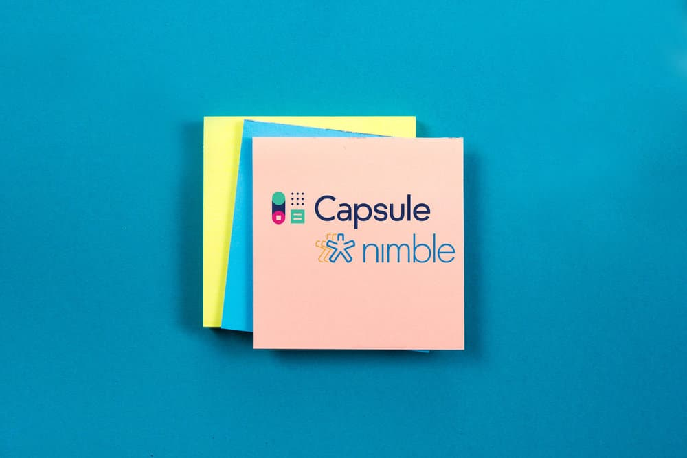 Capsule vs Nimble (the two company logos side by side)