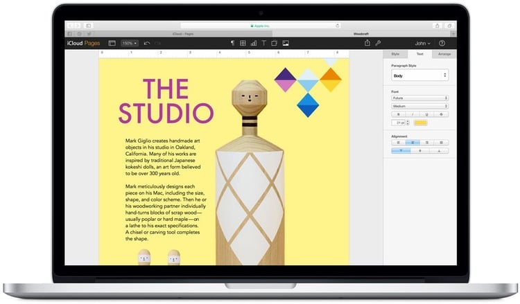 iWork from Apple - a key alternative to Microsoft office and Google Workspace (G Suite)