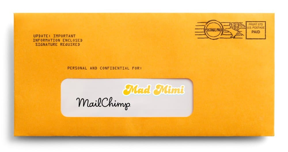 Mad Mimi vs Mailchimp - images of the two logos side by side.