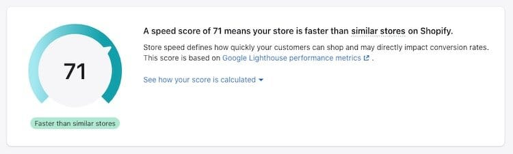 Shopify的在线商店速度报告。