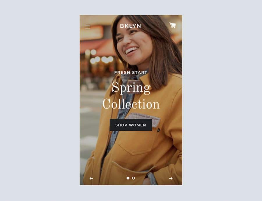 A responsive Shopify template