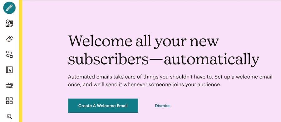 Menu icons in Mailchimp