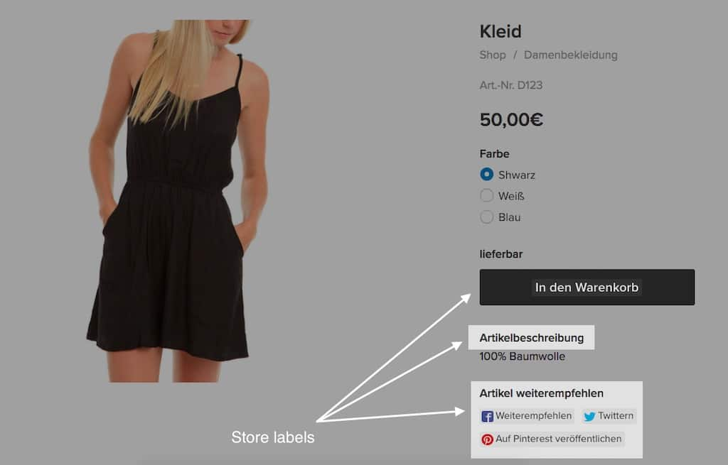 Some components of an Ecwid store can be automatically translated