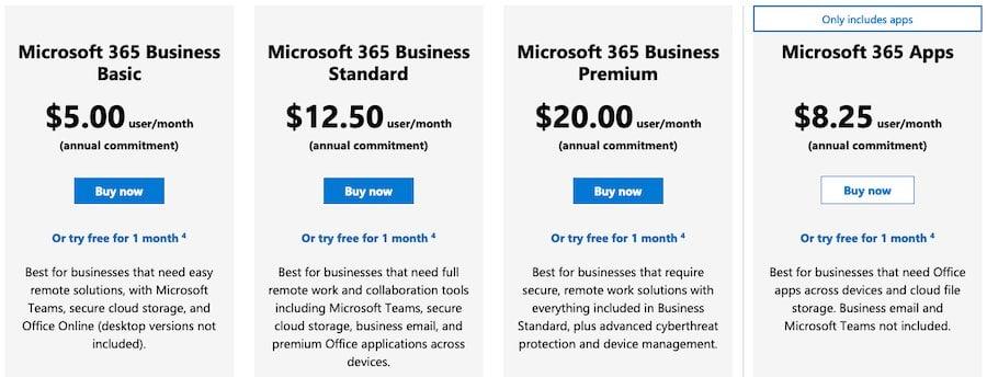 Microsoft business plans