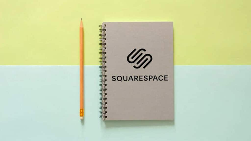 Squarespace review (image of the Squarespace logo on a notebook)
