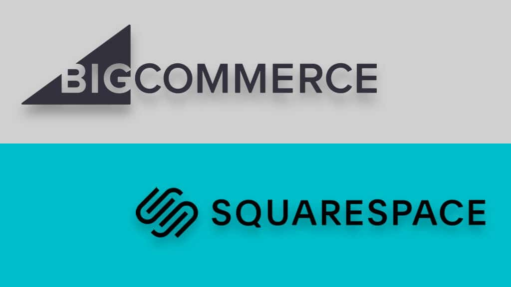 BigCommerce vs Squarespace (the two logos side by side)