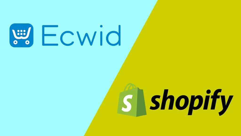 Ecwid vs Shopify (the two logos, side by side)