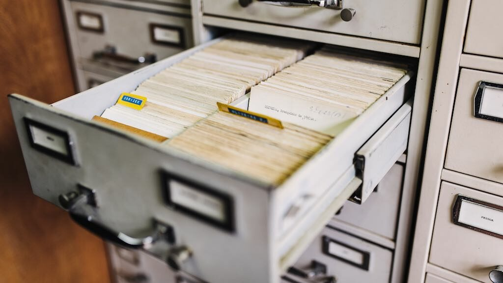A filing cabinet. Email addresses can end up in a variety of places — even physical locations.