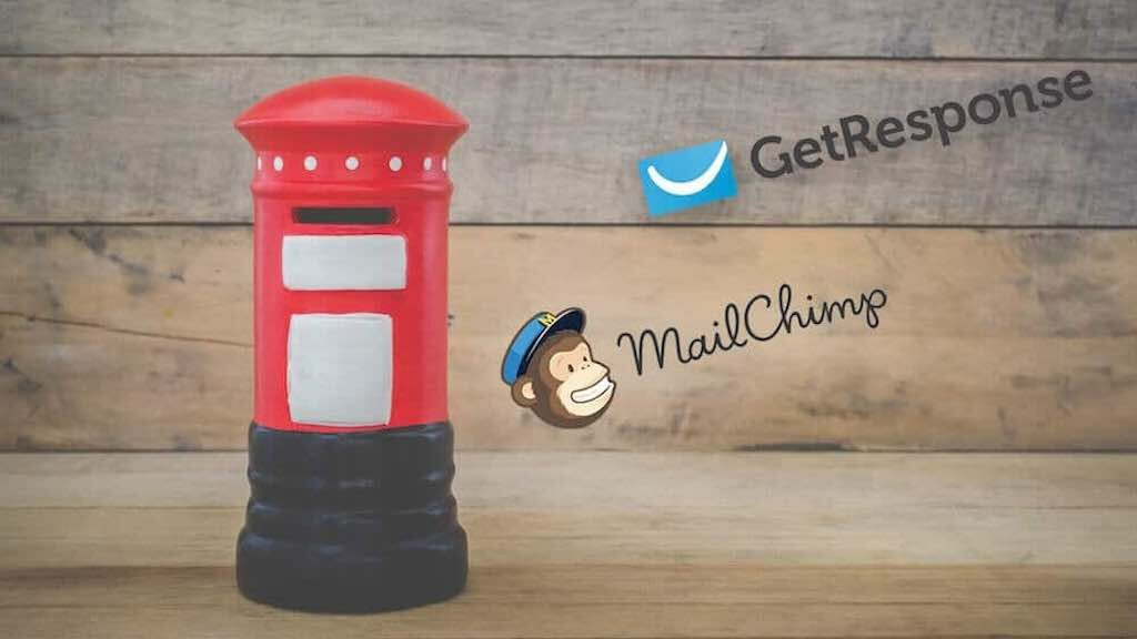 Getresponse vs Mailchimp (the two logos side by side)