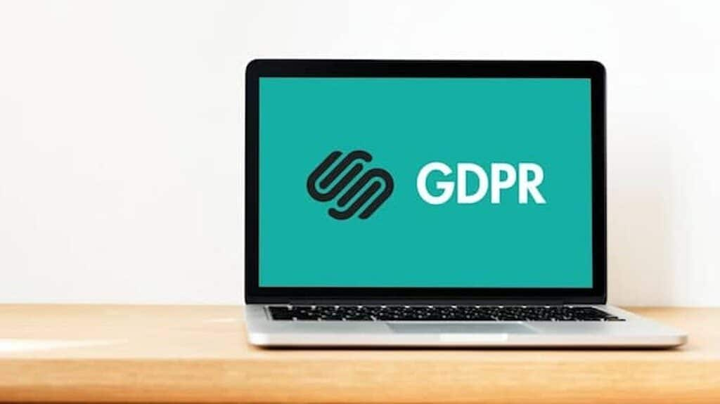 Squarepsace GDPR - image of the Squarespace logo and GDPR text. Accompanies an article about how to make a Squarespace site GDPR compliant.