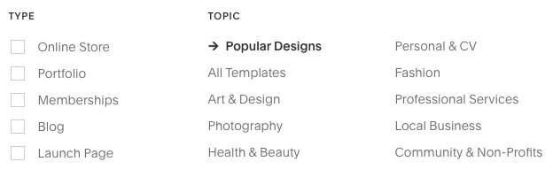 Categories can help you choose the best theme