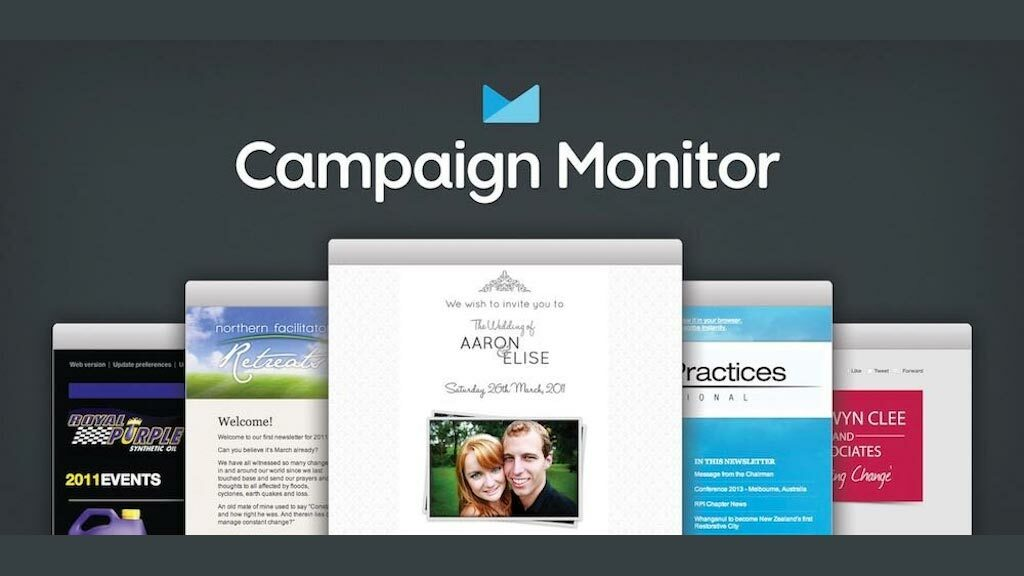 Campaign Monitor review (picture of a selection of e-newsletter templates)