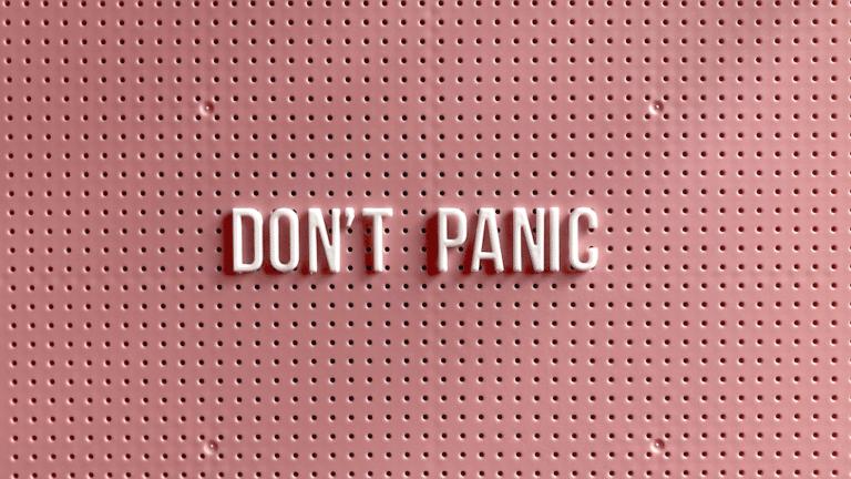 """""""Don't panic"""" image"""