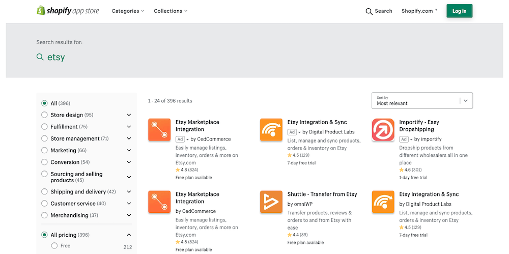 It's not always a case of Shopify vs Etsy — integrations in Shopify's app store let you use both platforms together