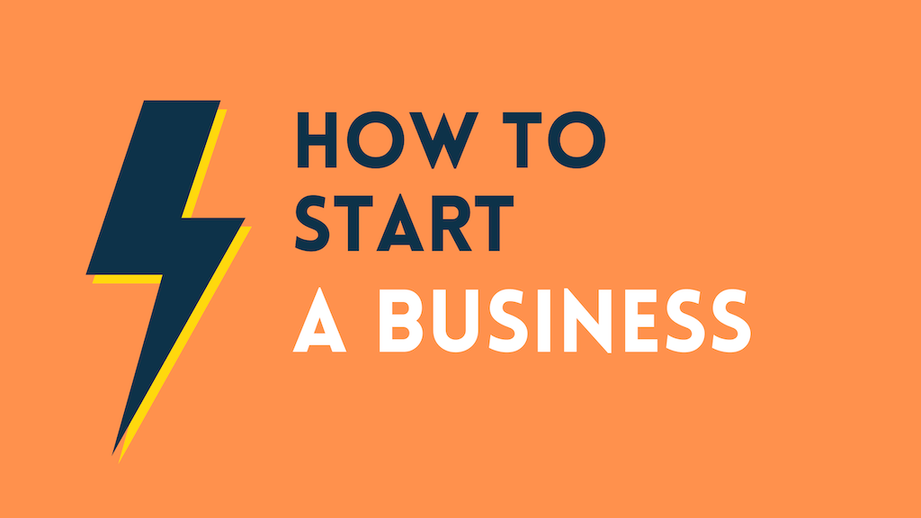 How to start a business (image containing a thunderbolt).