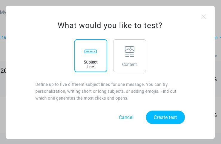 Split testing in GetResponse