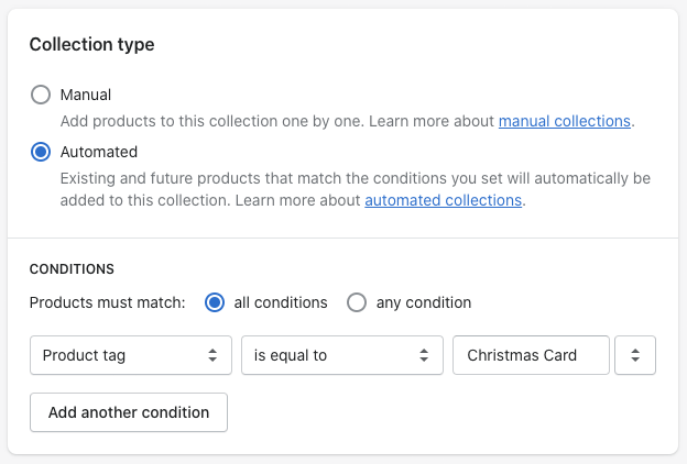 Creating automated collections