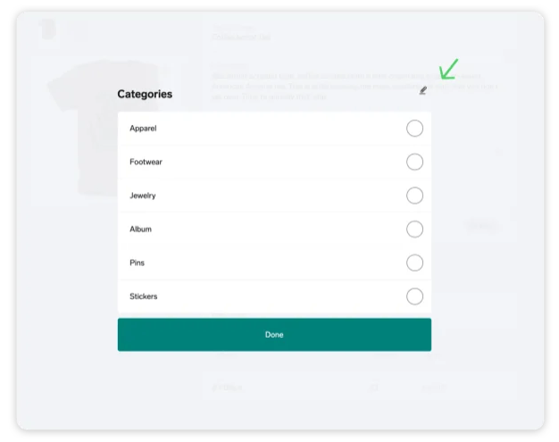 Managing product categories