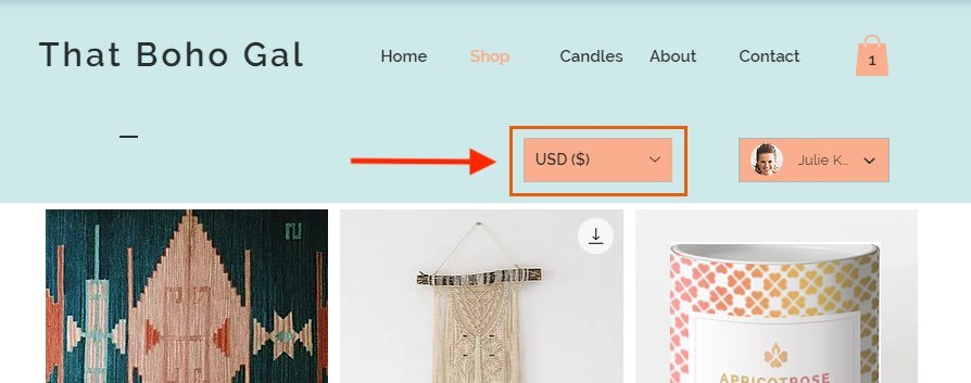 Although Wix lets you display product prices in local currencies, it doesn't let your site visitors check out in that currency.