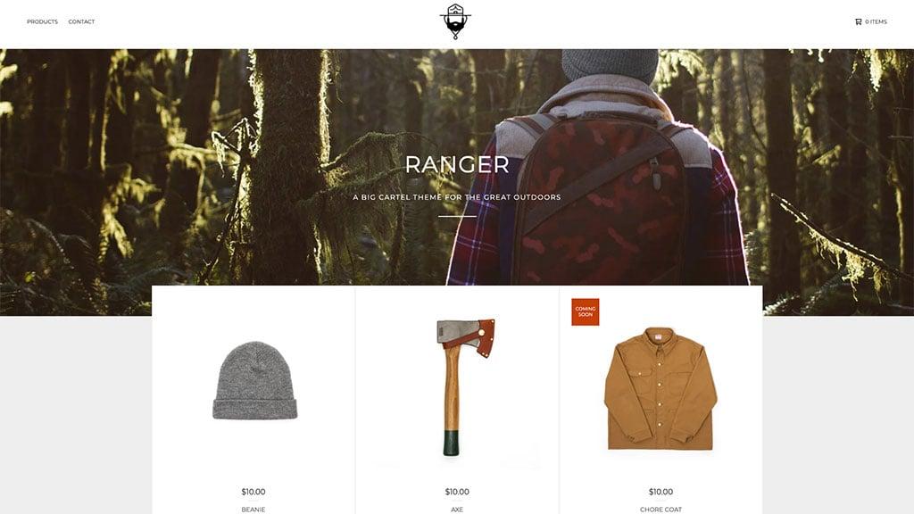 Big Cartel 'Ranger' template