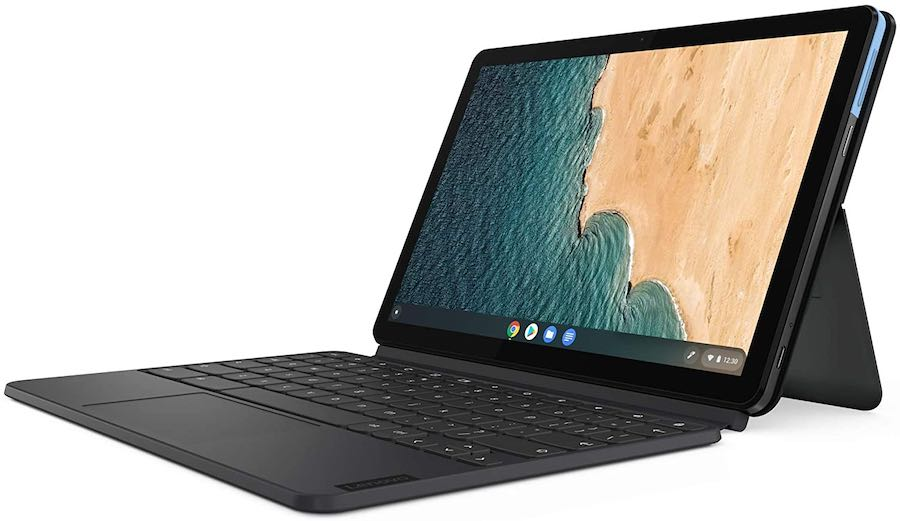The Lenovo IdeaPad Duet is a two-in-one tablet / laptop device