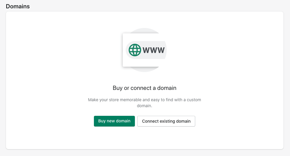 Connecting your domain in Shopify