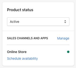 Product status box