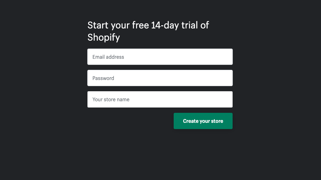 Choosing your store name in Shopify