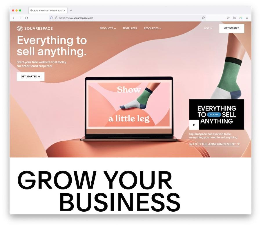 Squarespace gives you a lot of built-in e-commerce tools